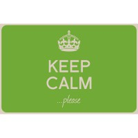 Set de table imprimé keep calm vert