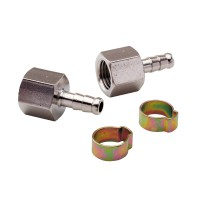 Embout mecafer pour tuyau 1/4 f 6 x 11 + colliers