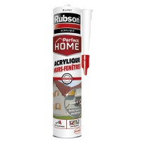 Mastic perfect home rubson acrylique murs-fenêtres blanc 280ml