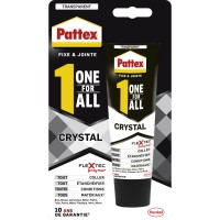 Colle fixation pattex one for all crystal 90g