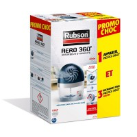 Absorbeur d'humidité rubson aero pure 360° + 3 recharges neutres