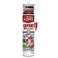Mastic perfect home rubson expert jointe & colle gris 280ml