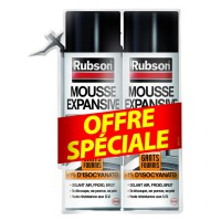 Lot de 2 mousses expansives rubson