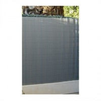 Canisse simple face gris métal 1 x 3 m