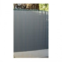 Canisse simple face gris métal 1,5 x 5 m