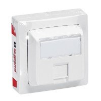 Prise rj45 multimédia legrand cat. 5e u/ftp appareillage saillie blanc