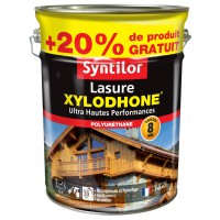 Lasure xylodhone® syntilor ultra hautes performances acajou exotique 5l plus 20% gratuit
