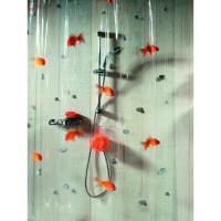 Rideau de douche spirella goldfish orange