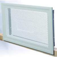 Grille d'air chaud granith hbh 300x200mm blanche