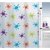 Rideau de douche spirella splash multicolor