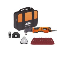 Outil multifonction aeg omni300kit1 300 w têtes interchangeables