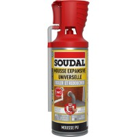 Mousse expansive soudal isoler/reboucher 300ml