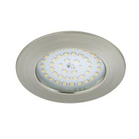 Spot led encastrable fixe briloner module 12w ip44 clii nickel mat rond