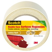 Double-face scotch® surfaces rugueuses 20mx50mm