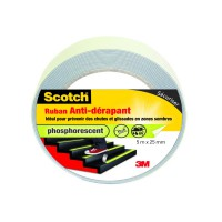 Ruban antidérapant scotch® 5mx25mm phosphorescent