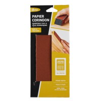 Papiers abrasifs gerlon corindon grains 60/100/150 lot de 6