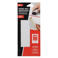 Papiers abrasifs gerlon anti-encrassement gris grain 240 lot de 6