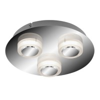 Plafonnier briloner 3l sdb led 3x5w 3x400lm Ø250mm ip44 chrome