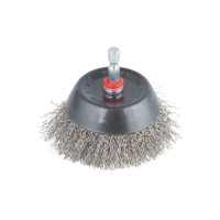 Brosse inox wolfcraft soucoupe hex d.75 mm