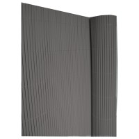 Canisse double face 10mm 1x3m gris anthracite