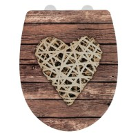 Abattant wc wenko curly heart thermoplast embosse
