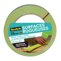 Ruban de masquage scotch® surfaces rugueuses vert 41mx24mm