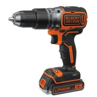 Perceuse sans fil à percussion black & decker brushless 18v + 2 batteries lithium + chargeur