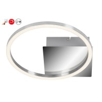 Plafonnier applique led 'frames' briloner métal/chrome 7,5w