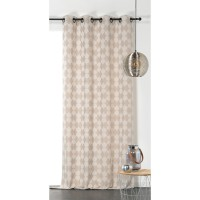 Voilage linder gambino beige 140x240 cm 40%coton 34%polyester 26%lin