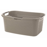 Panier à linge country taupe 40l