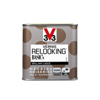 Vernis relooking meubles boiseries v33 taupe brillant 0,5l