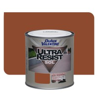 Peinture dulux valentine ultra résist sol satin rouge carrel