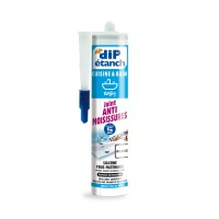Joint étanche silicone anti-moisissures 290ml blanc