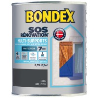 Peinture de rénovation bondex multi support 7 ans anthracite 0,75 ml