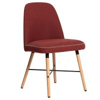 Chaise vintage janeiro rouge