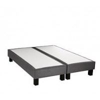 Sommier anthracite 2x80x200 signature lilly