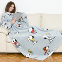 Couverture à manches deluxe snoopy kanguru