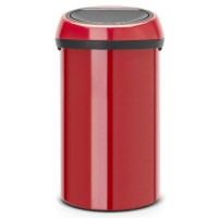 Poubelle 60 l brabantia passion red - touch bin