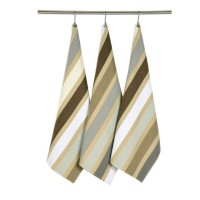Lot de 2 torchons garlin artiga, gris