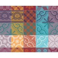 Lot de 4 sets de table mille tiles garnier thiebaut