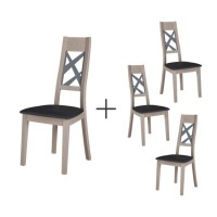 Lot de 4 chaises salhia
