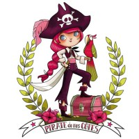 Stickers pirate girl