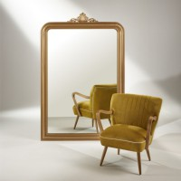 Fauteuil sixty jaune moutarde
