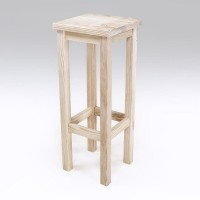 Tabouret de bar droit pin massif