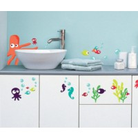 Sticker mural octopus (vissian girardin )