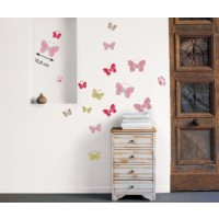 Sticker mural papillons color (crofts )