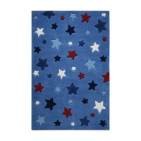 Tapis bleu simple stars smart kids