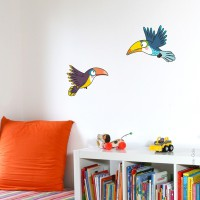 Sticker envol de toucans