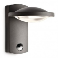 Applique led détecteur freedom h19 cm ip44 - anthracite