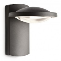 Applique led noire freedom h19 cm ip44